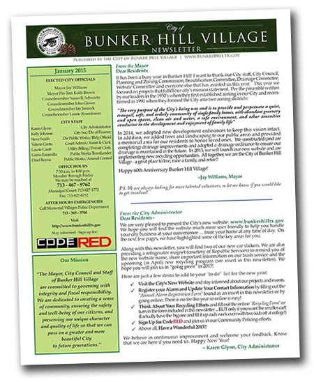 Bunker Hill Newsletter Jan 2015 thumb